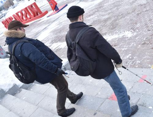 Конкурс по городскому ориентированию с тактильной тростью